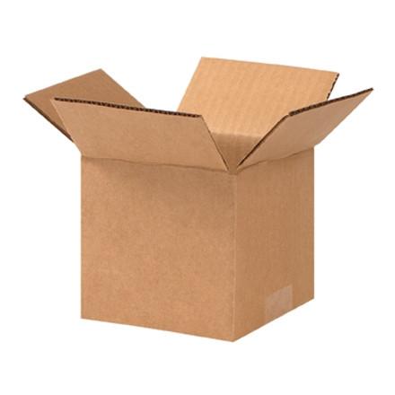 """Cajas de Corrugado, 5 x 5 x 4 """", Kraft"""