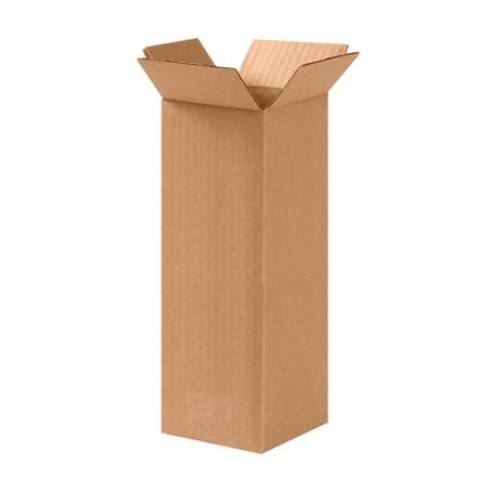 """Cajas de Corrugado, 4 x 4 x 10 """", Kraft"""