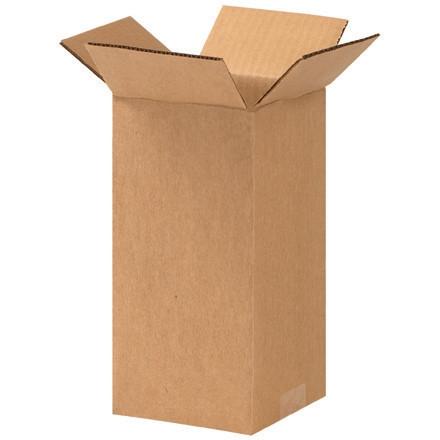 """Cajas de Corrugado, 4 x 4 x 9 """", Kraft"""