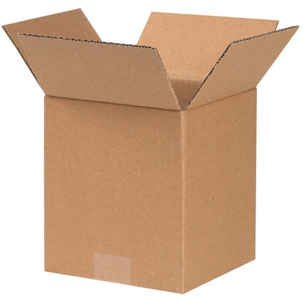"""Cajas de Corrugado, 4 x 4 x 5 """", Kraft"""