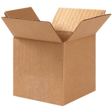 """Cajas de Corrugado, 3 x 3 x 3 """", Kraft"""