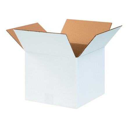 """Cajas de Corrugado, 12 x 12 x 10 """", Blancas"""