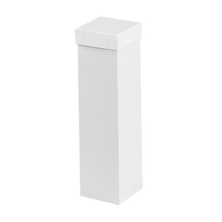 """Cajas de regalo de aglomerado, parte inferior, Deluxe, blancas, 4 x 4 x 15 """""""