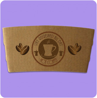 Funda de taza de café impresa personalizada - Kraft