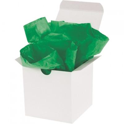 Hojas de papel tisú verde Kelly, 20 x 30