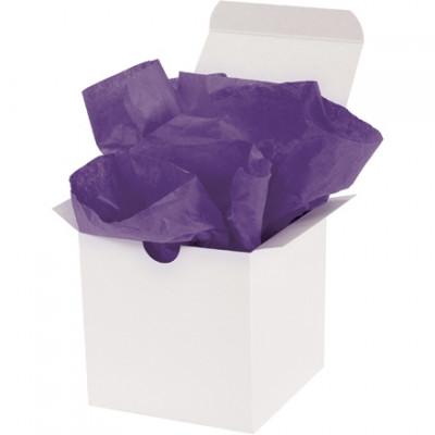 Hojas de papel tisú violeta, 15 x 20