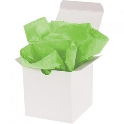 Hojas de papel tisú verde cítrico, 15 x 20