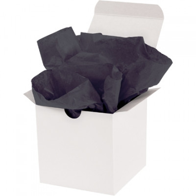 Hojas de papel tisú negro, 15 x 20